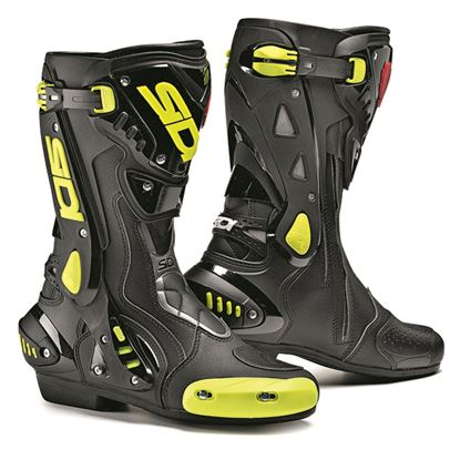 Picture of SIDI ST Road Boots Black Fluoro Yellow