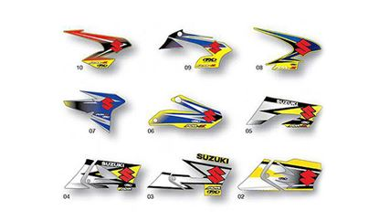 Picture of Factory Effex SUZUKI  OEM Replacement Shroud Graphics
