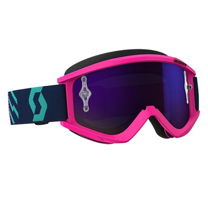 Picture of SCOTT Recoil 2018 Xi Pink Teal with Purple Chrome Works Lens