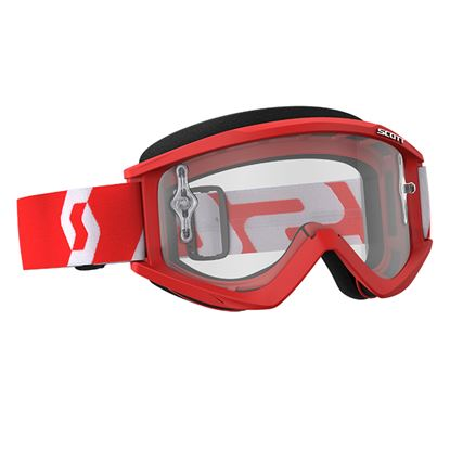 Picture of SCOTT Recoil Xi 2018 Red White with Clear Works Lens
