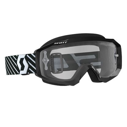 Picture of SCOTT Hustle MX Goggles Black White with Clear Works Lens