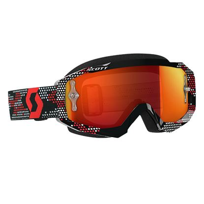 Picture of SCOTT Hustle MX Goggles Black Red with Orange Chrome Works Lens