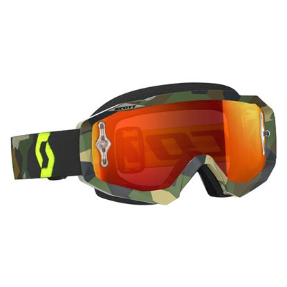 Picture of SCOTT Hustle MX Goggles Grey Fluoro Yellow with Orange Chrome Lens