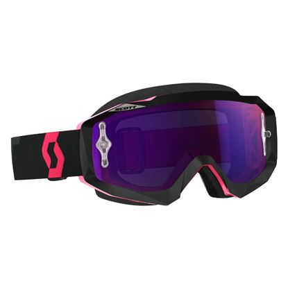 Picture of SCOTT Hustle MX Goggles Black Fluoro Pink with Purple Chrome Lens