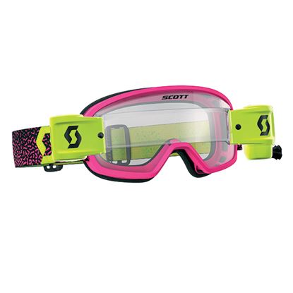 Picture of SCOTT BUZZ MX PRO WFS Pink / Yellow with Clear Works Lens