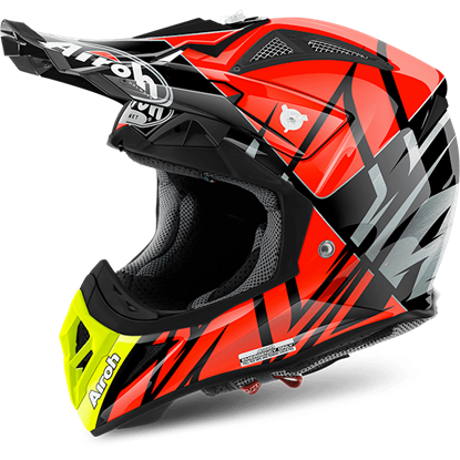 Picture of AIROH  AVIATOR 2.2 Carbon Kevlar Helmet Styling Orange Gloss