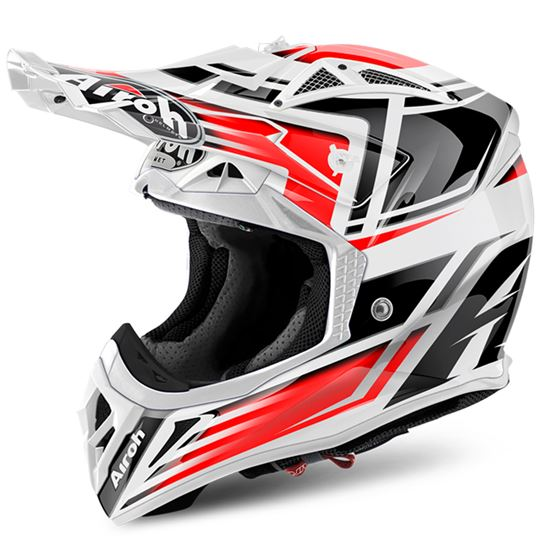 Picture of AIROH AVIATOR 2.2 Carbon Kevlar Helmet Restyle Red Gloss
