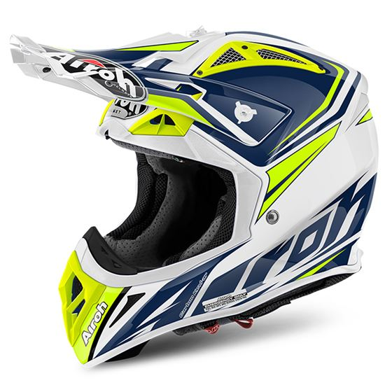 Picture of AIROH  AVIATOR 2.2 Carbon Kevlar Helmet Ready Blue Gloss