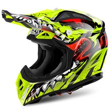 Picture of !Grim S Yellow Gloss Aviator 2.2 Helmet MX Airoh           [A]