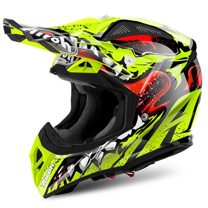 Picture of AIROH AVIATOR 2.2 Carbon Kevlar Helmet Grim Yellow Gloss