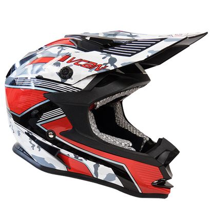 Picture of VCAN V321 MX Helmet Camo Force Red Black