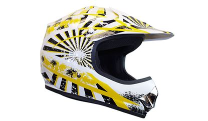 Picture of KYLIN  MX Child Helmet Razz Yellow