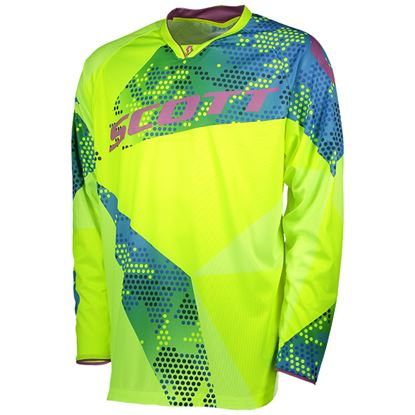 Picture of SCOTT  350 Race Jersey 2018 Blue Yellow