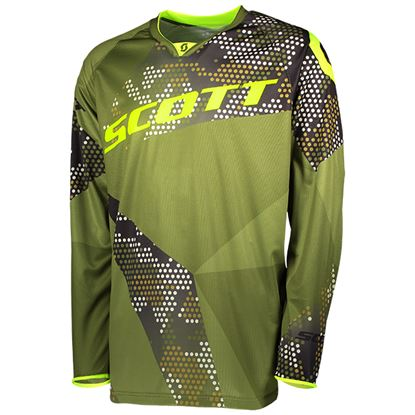 Picture of SCOTT  350 Race Jersey 2018 Green Yellow