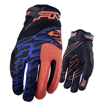 Picture of FIVE MXF2 Glove Fluoro Orange / Blue