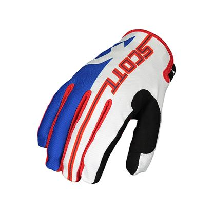 Picture of SCOTT 350 Track Youth Glove 2018 Blue Red