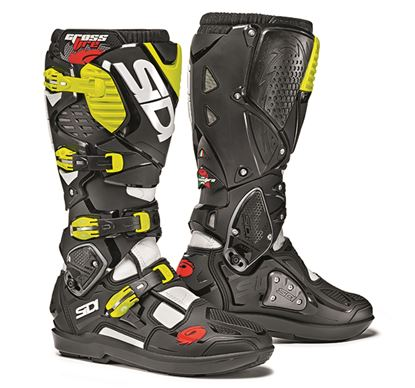 Picture of SIDI Crossfire 3 SRS Boots - White Black Yellow