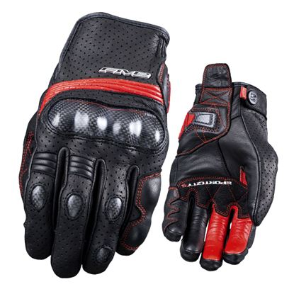 Picture of FIVE Sport City Carbon Glove Black Red