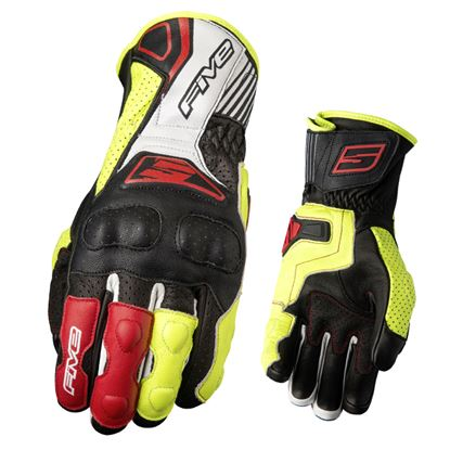 Picture of FIVE  RFX4 Replica Race Glove Black Fluoro Yellow