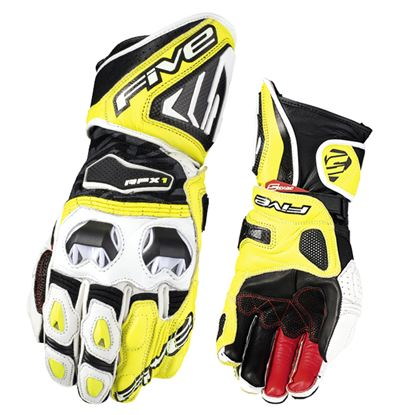 Picture of FIVE RFX1 Race Glove White Fluoro Yellow