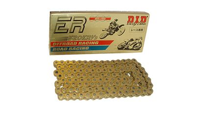 Picture of 520ERV3 x 120ZB X'Ring Gold DID chain w/Rivet Link         [AWC]