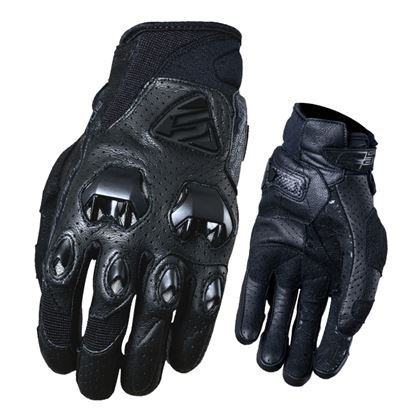 Picture of FIVE Stunt EVO Leather Air Gloves  Black