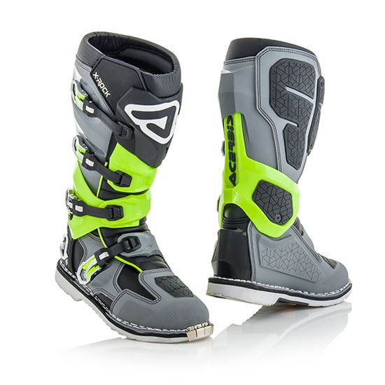 Picture of ACERBIS X-Rock Boots Grey Fluro-Green
