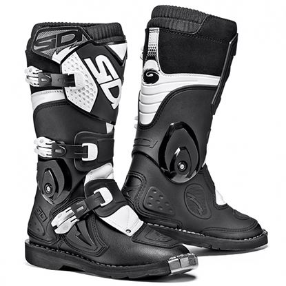 Picture of SIDI Flame Youth MX Boots Black White