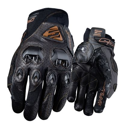 Picture of FIVE Stunt EVO Leather Air Gloves Brown