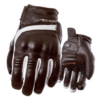 Picture of FIVE Sport City Women's Urban Gloves Brown White