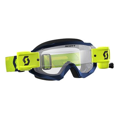 Picture of SCOTT Hustle X MX WFS Yellow Blue with Clear Works Lens