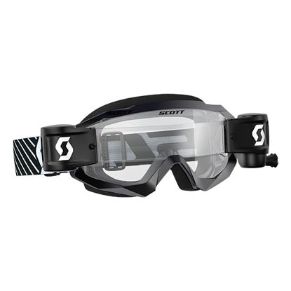 Picture of SCOTT Hustle X MX WFS Black White with Clear Works Lens