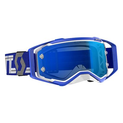 Picture of SCOTT Prospect Goggles White Blue with Blue Chrome Works Lens