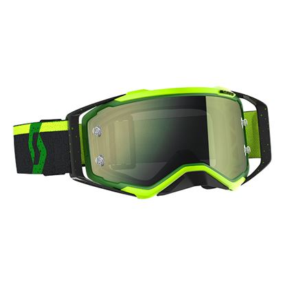 Picture of SCOTT Prospect Goggles Green Black with Yellow Chrome Works Lens