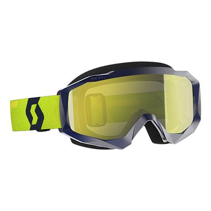 Picture of SCOTT Hustle MX Goggles Blue Yellow with Yellow Chrome Works Lens
