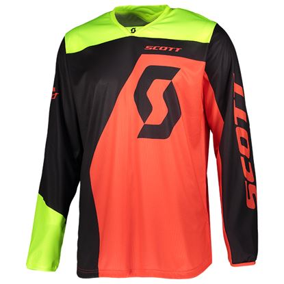 Picture of SCOTT 350 Dirt Jersey 2019 Black Red