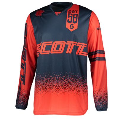 Picture of SCOTT 350 Race Jersey 2019 Red Blue