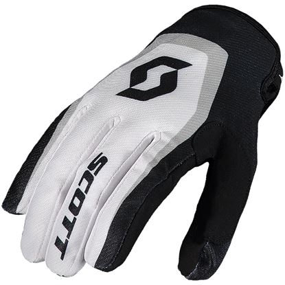 Picture of SCOTT 350 Dirt Youth Gloves 2019 White Black