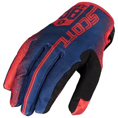 Picture of SCOTT 350 Race Gloves 2019 Red Blue