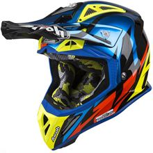 Picture of !Great L Blue Chrome Aviator 2.3 Helmet MX Airoh           []