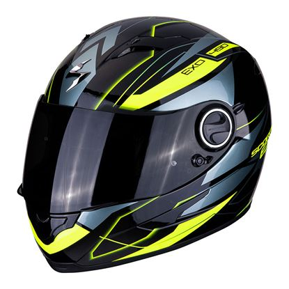 Picture of SCORPION EXO-490 Nova Black - Neon Yellow