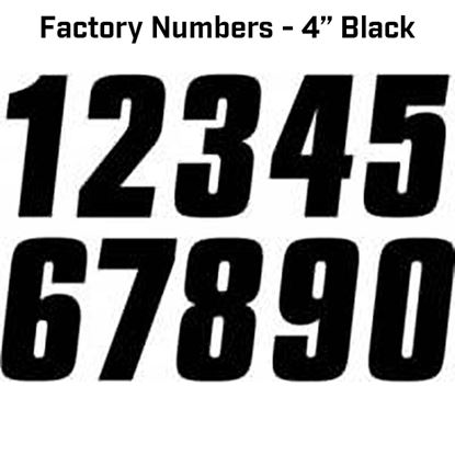 "Picture of FACTORY EFFEX Factory Numbers - 4"" Black"