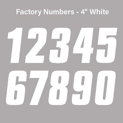 "Picture of FACTORY EFFEX Factory Numbers - 4"" White"