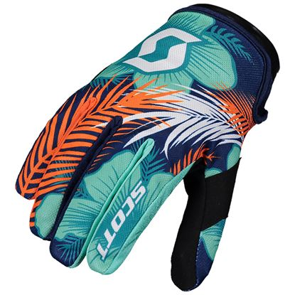 Picture of SCOTT 250 Swap Youth Gloves Blue Orange 2020