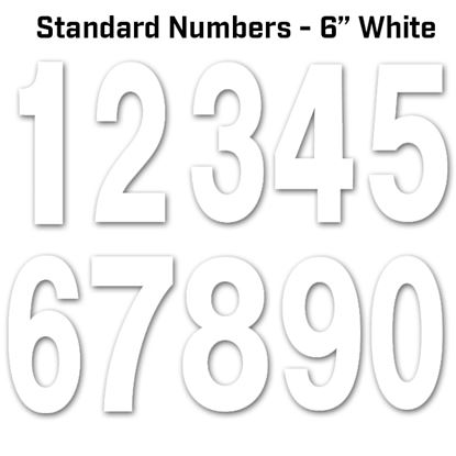 """Picture of FACTORY EFFEX - Standard Numbers 6"""" White"""