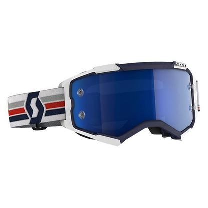 Picture of Fury Goggle Blue White with Electric Blue Chrome Works Lens