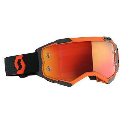 Picture of Fury Goggle Orange Black with Orange Chrome Works Lens