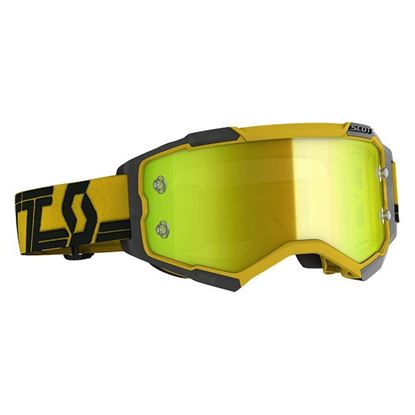 Picture of Fury Goggle Yellow Black with Yellow Chrome Works Lens
