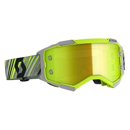 Picture of Fury Goggle Yellow Grey with Yellow Chrome Works Lens