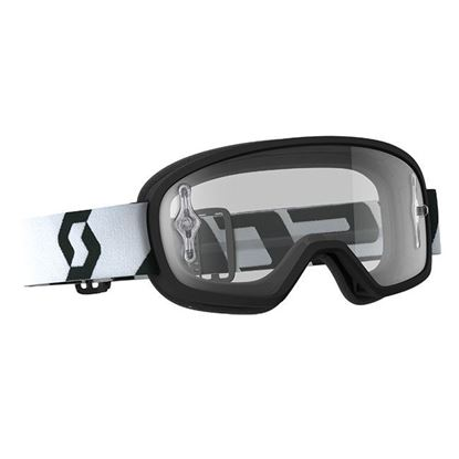 Picture of SCOTT BUZZ MX PRO Goggle Black White with Clear Works Lens